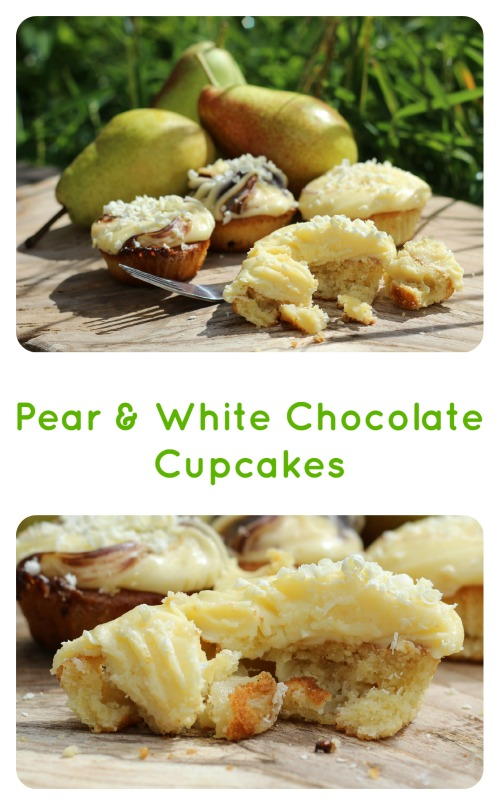 Pear & White Chocolate Cupcakes