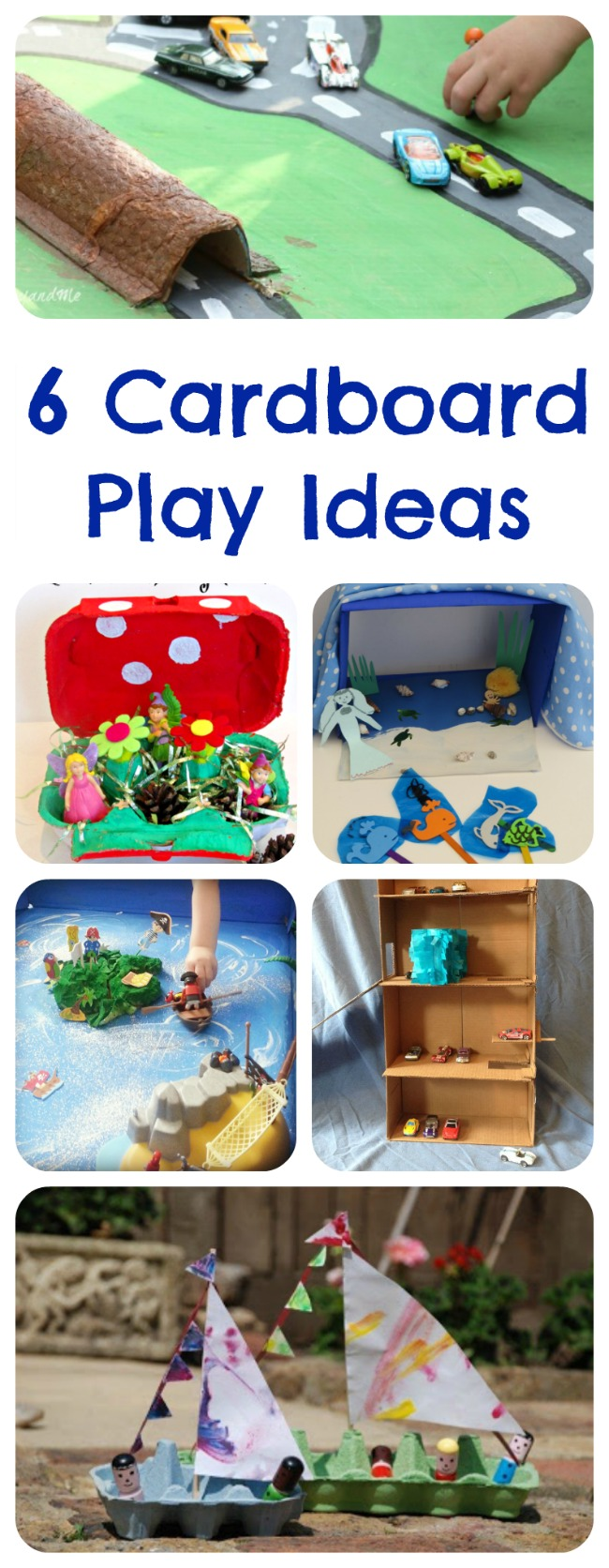 6 Cardboard Play Ideas