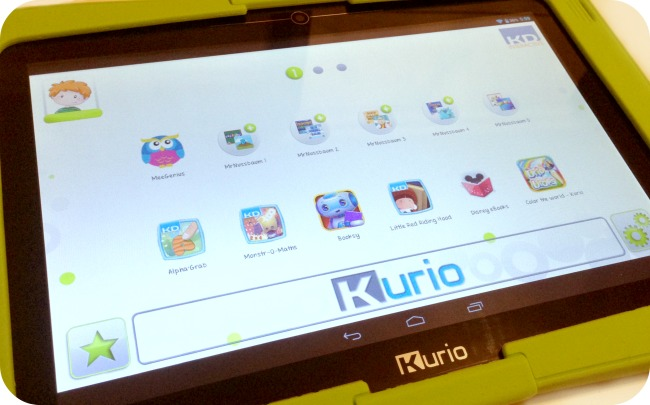 Kurio 10S Personalised Screen
