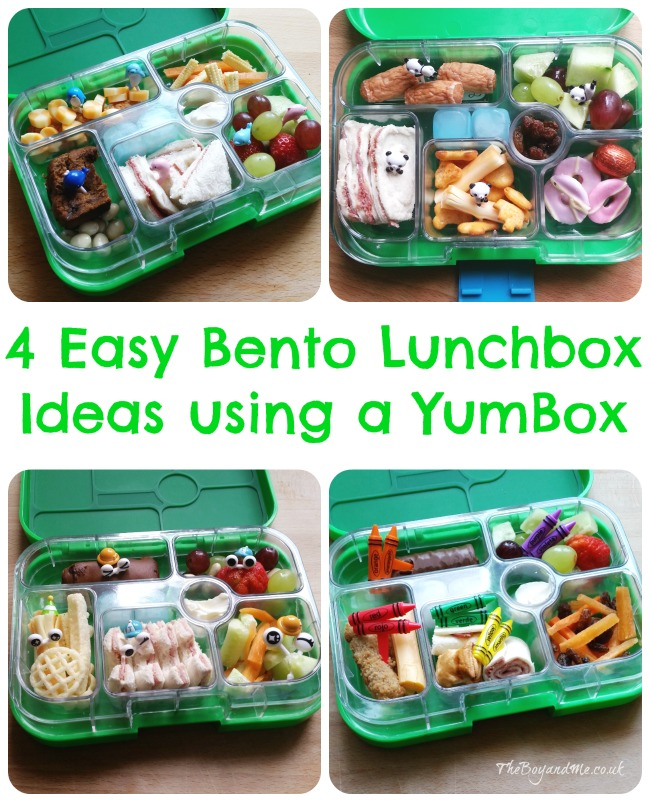 4 Easy Bento Lunchbox Ideas using a Yumbox