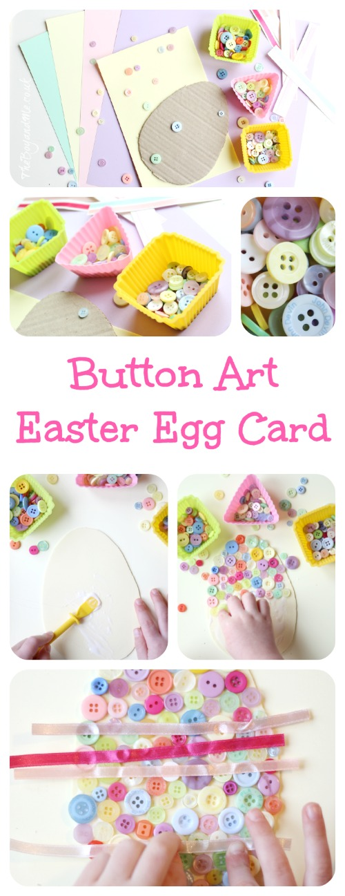 Button Art Easter Egg Card