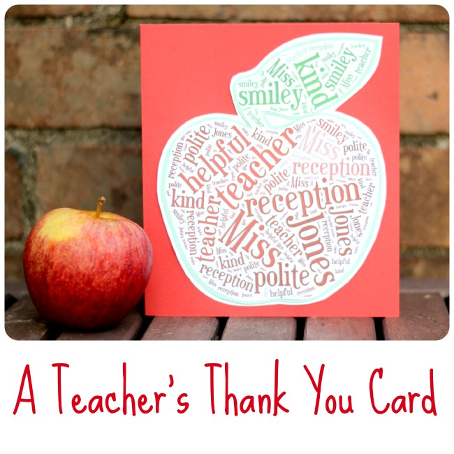 How To Make a Teacher's Thank You Card (using Tagxedo)