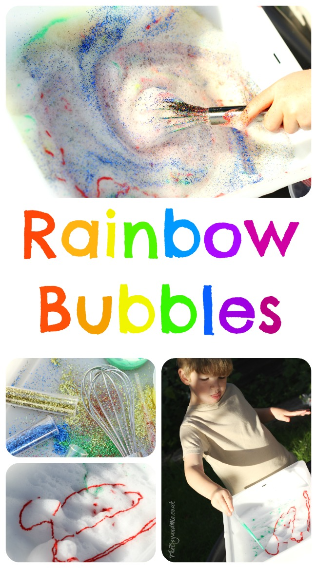 Rainbow Bubbles (Sensory Play)