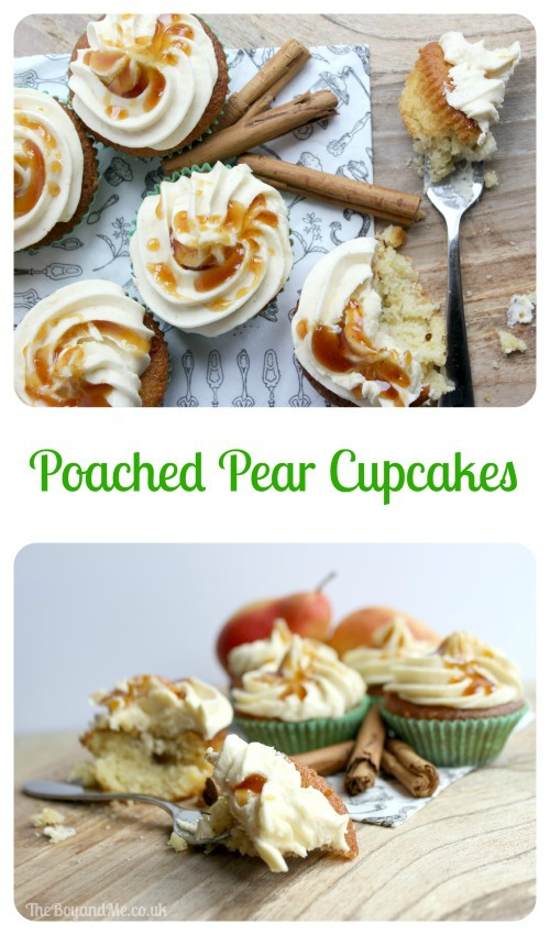 Poached Pear Cupcakes
