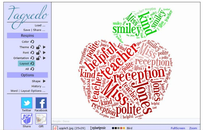 Using tagxedo to make a 'Thank You Teacher' card 6