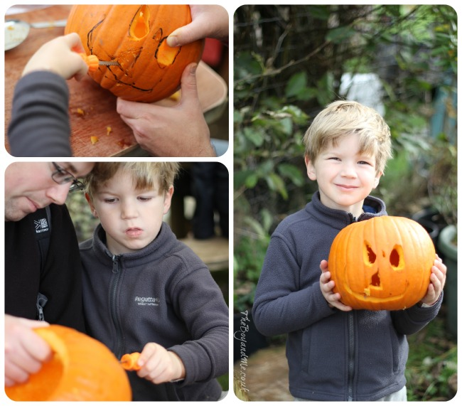 Pumpkin carving at Hendrewennol