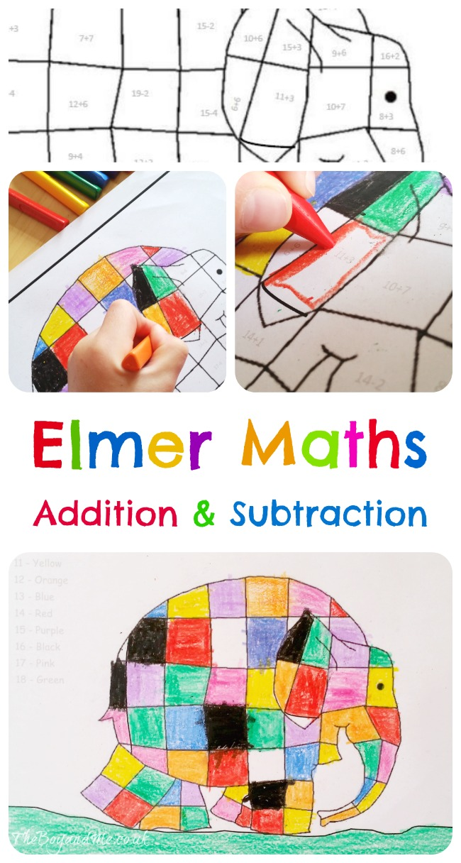 Elmer Maths - Addition & Subtraction