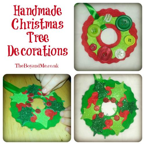 Home made christmas tree decorations theboyandme for Home made christmas tree decorations