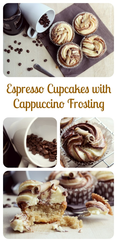 Espresso Cupcakes with Cappuccino Frosting