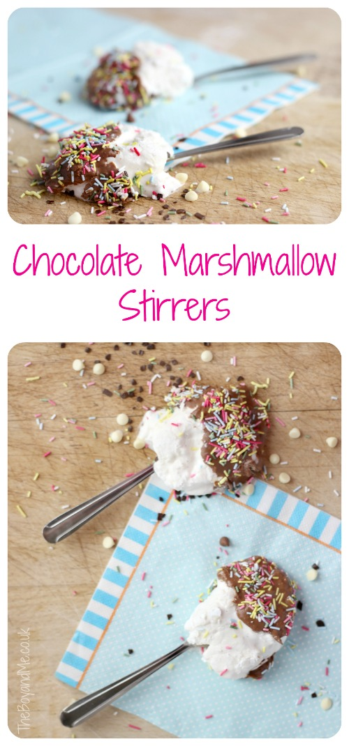Chocolate Marshmallow Stirrers