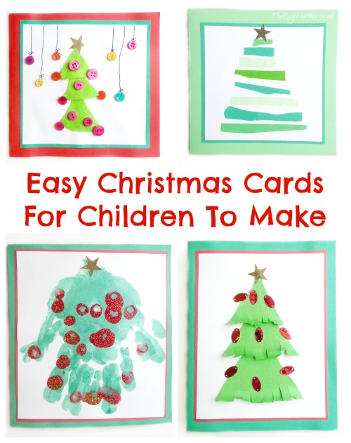 Christmas Cards Ideas For Children To Make Part - 16: Four Easy Christmas Cards For Children To Make