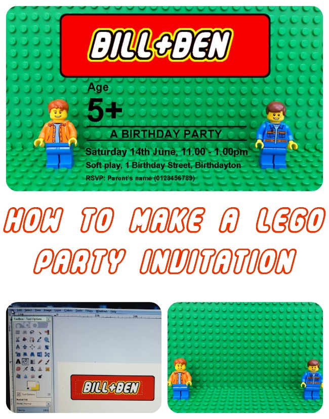 How to make a LEGO birthday party invitation