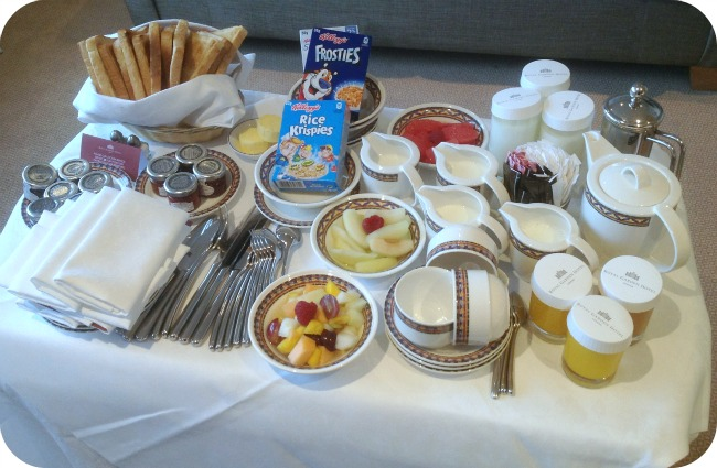 Royal Garden Hotel room service breakfast