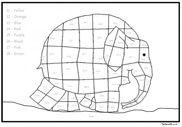 Elmer The Elephant Maths Activities Free Downloadable