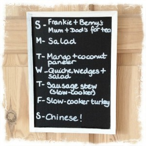 meal planning monday 30th april 2012