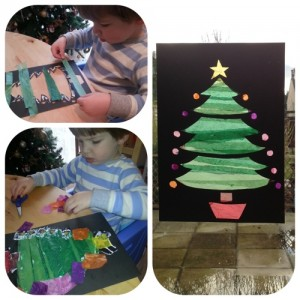 christmas stained glass window templates - christmas tree stained glass window theboyandme