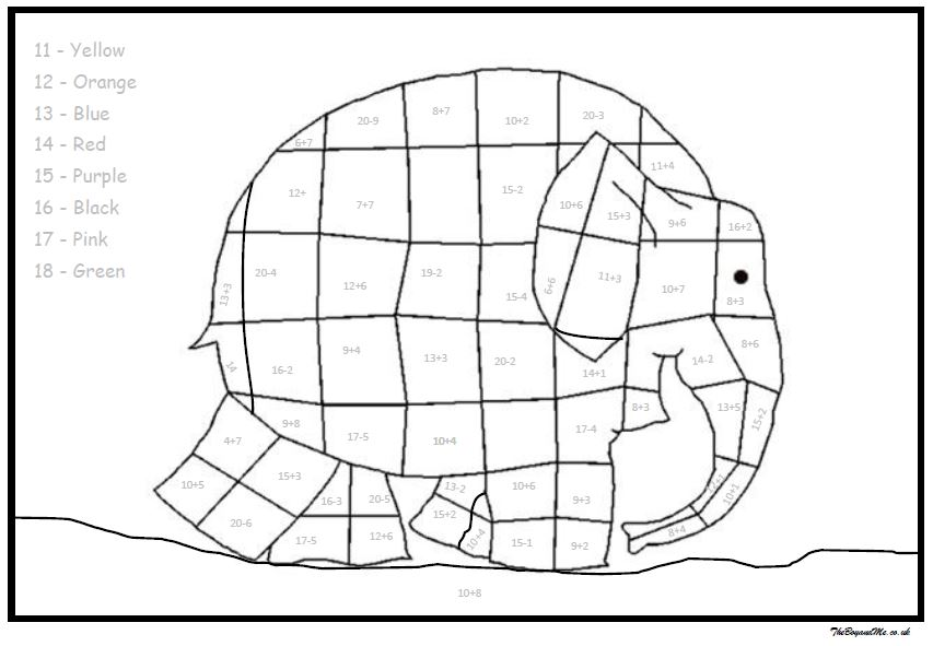 Elmer The Elephant Maths Activities (Free Downloadable) | TheBoyandMe